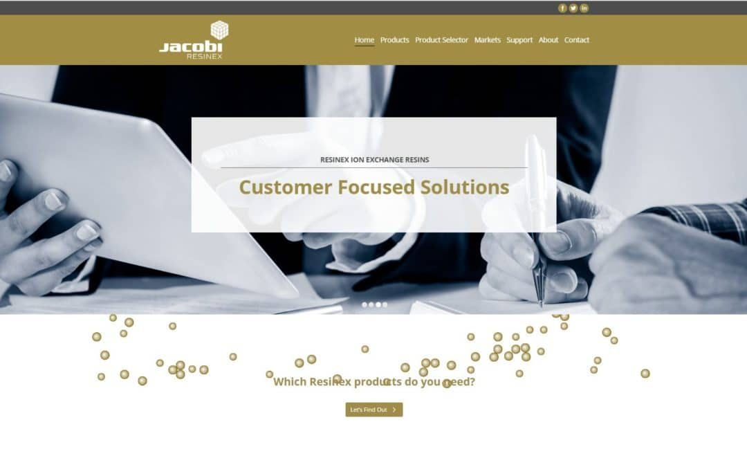 Jacobi Resinex (webbplats)